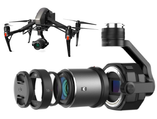 New DJI Zenmuse X7 Camera for Drones
