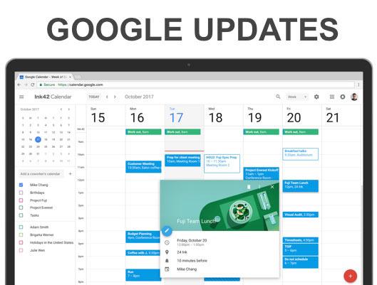 New Google Calendar User Interface