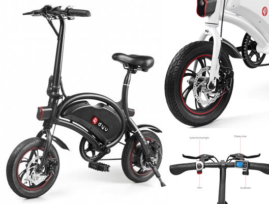 084e4032498 F-Wheel DYU Bicycle Folding Smart Electric Bike. LINKTO-TECH