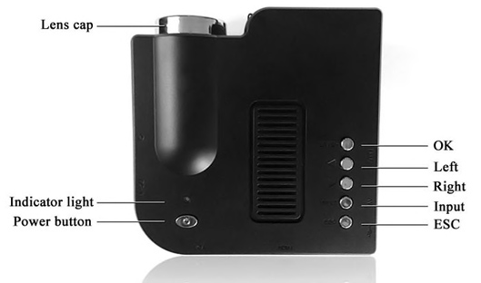 Two Colors Portable Home Mini Projector