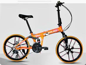 SMLRO MX690Folding Mountain Bike black and orange