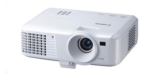Canon LV-X300 Multimedia Projector with 3000 Lumens, 2300:1 Contrast Ratio, 10W Speaker, 6000 Hours Super-High Pressure Mercury Lamp, HDMI, RCA, USB.