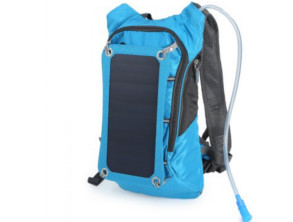 Compact Nylon Solar Backpack photo