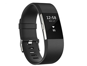 Fitbit Charge 2 Heart Rate + Fitness Tracker Wristband, Large