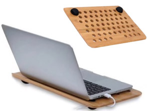 Laptop Wooden Stand - Bamboo MacBook Desk