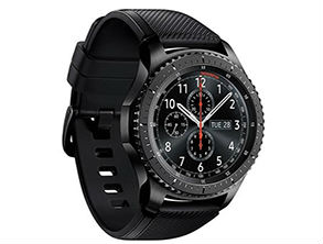 Samsung Gear S3 frontier Smartwatch, Large Band, Black - for Apple iOS and Android