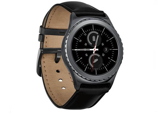 Samsung Gear S2 classic Smartwatch with 360x360 Display Resolution, 1.0GHz Dual-Core CPU, 512MB RAM + 4GB Storage Capacity, Tizen OS 2.3.2