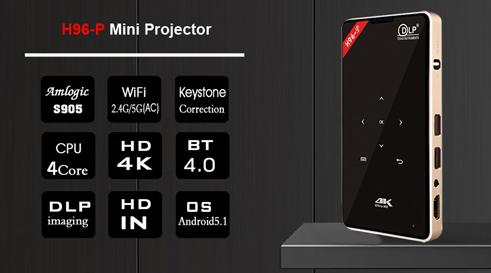 Smart Wireless DLP H96-P Mini Projector