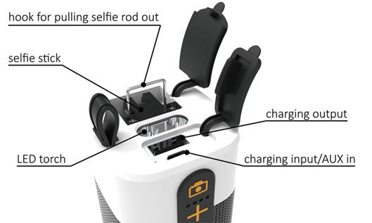 Built-in Power Bank Smart Outdoor Selfie Stick