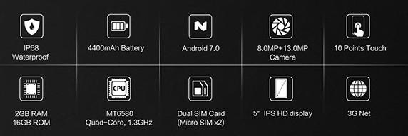 CUBOT Kingkong Smartphone specs