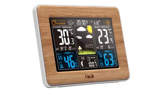 smart home weather station with forecast function linkto tech. Black Bedroom Furniture Sets. Home Design Ideas