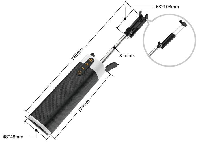 Multi-function Bluetooth Speaker Built-in Power Bank