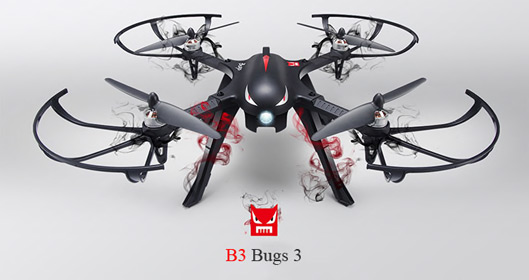 Quadcopter with Two-Way Control Radio System Drone