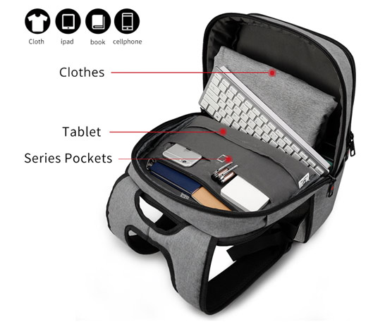 USB Charge Urban Backpack Anti-theft Bag