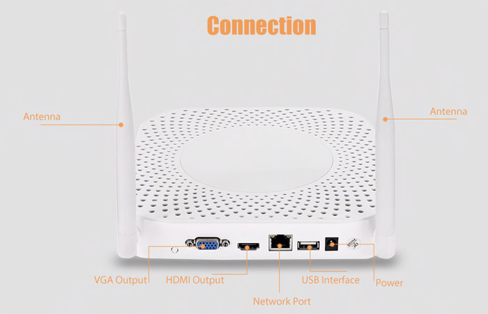 Wireless NVR Home Security Kit with 4 Cameras