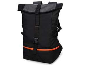 Wind Solid Casual Backpack Black