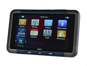8G RAM HD Screen MP5 Player Black