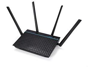 ASUS RT - ACRH17 AC1700 Gigabit WiFi Router black