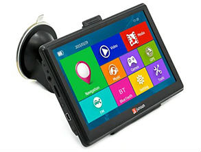 D100 Car GPS Navigator Black