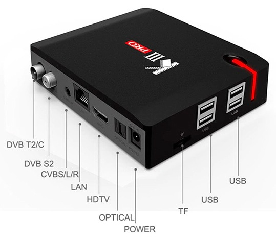 MECOOL KIII PRO Hybrid DVB TV Box Android
