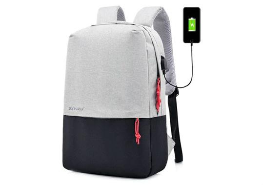 Men Minimalist Canvas Laptop Backpack