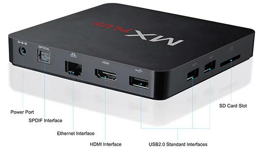 MX PLUS Smart TV Box