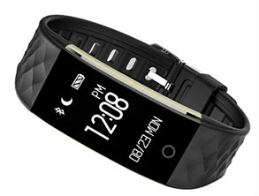 S2 Bluetooth Smart Bracelet Watch Black