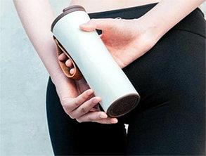 Smart Thermal Vacuum Water Bottle White
