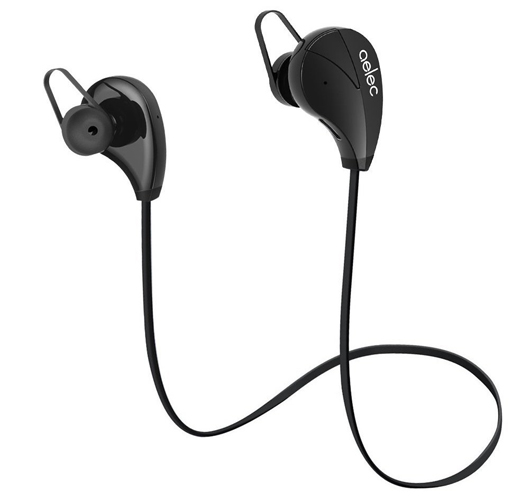 AELEC Bluetooth Earphones For Running black color