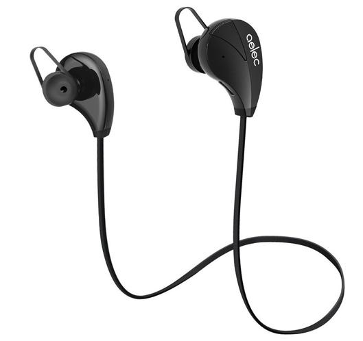 AELEC Bluetooth Earphones For Running black color