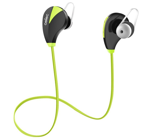 AELEC Bluetooth Earphones For Running Green color