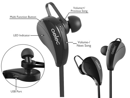 Long Battery Life AELEC Bluetooth Earbuds