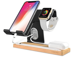 Apple Devices Wooden Charging Dock