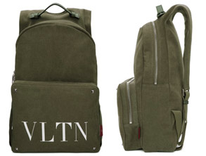 Green Valentino Garavani backpack