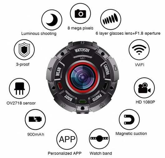 Wearable Sports Action Camera