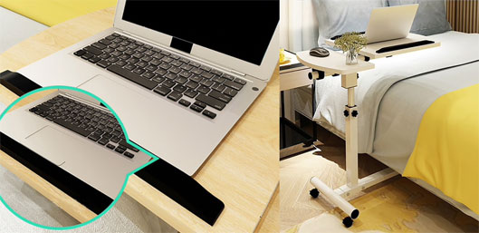 Adjustable movable Laptop Wooden Table