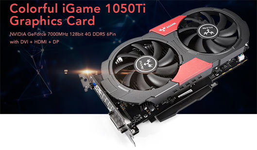 Colorful iGame 1050Ti Video Graphics Card