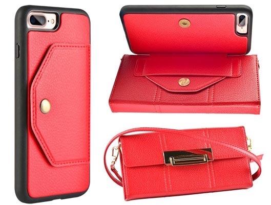 iPhone 7 Plus Purse Wallet Handbag with Detachable case