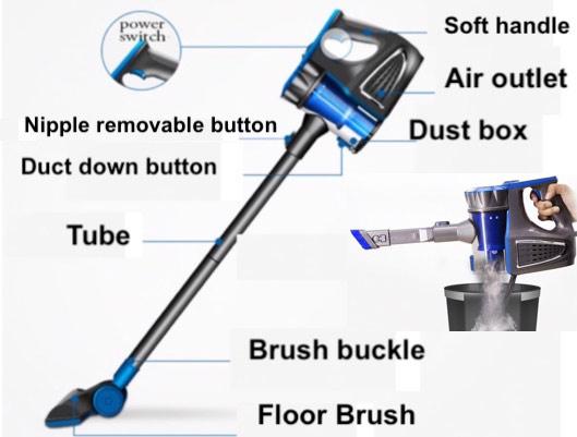 Powerful Lightweight Floor Vacuum Cleaner