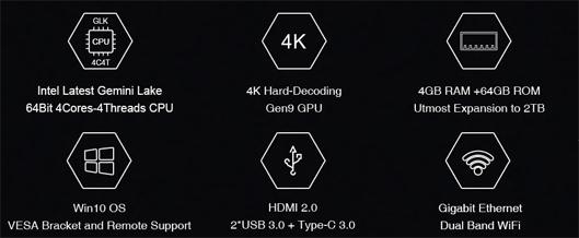 Smart TV Box CHUWI GBox Mini PC