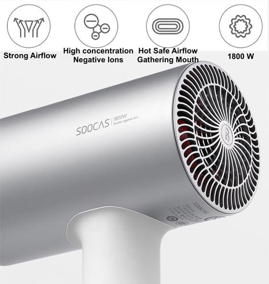 SOOCAS H3 Negative Ions Professional Electric Hair Dryer