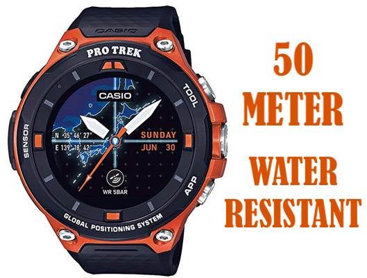 Casio Resin Waterproof Smartwatch