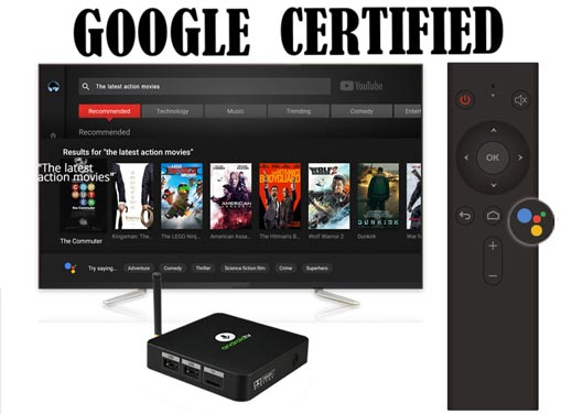 Google Certified Android TV Box with Voice Remote