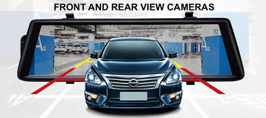 best Car DVR Mirror with Front and Back Cameras