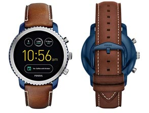 Round Smartwatch With Leather Band