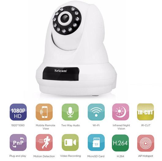 Sricam 1080P Night Vision IP Camera