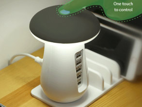 USB Charging Dock with LED Night Lamp