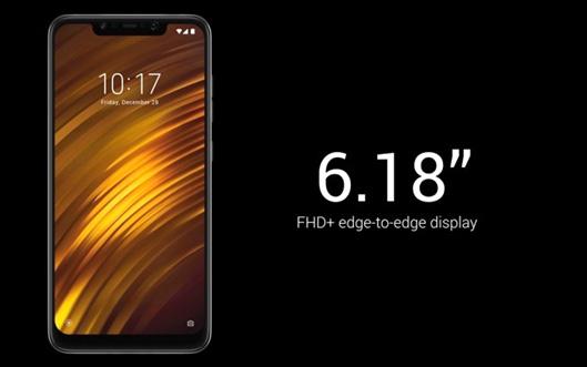 Xiaomi Poco F1 Smartphone screen