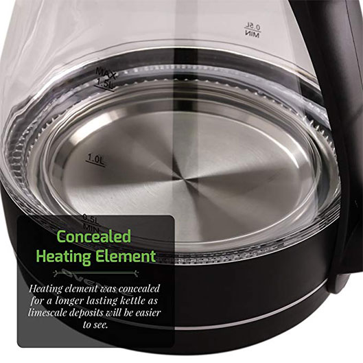 Boil-Dry Protection Glass Electric Kettle With LED Indicator