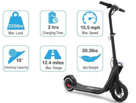 ESWING Two Wheels Electric Smart Scooter